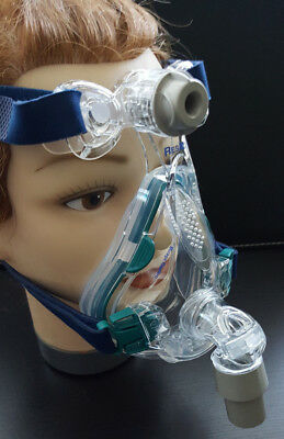 Resmed Mirage Quattro complete fullface mask new with strap for sleep apnea CPAP