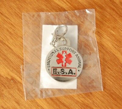 High Quality E.S.A. (Emotional Support Animal) Dog Tag with Clasp