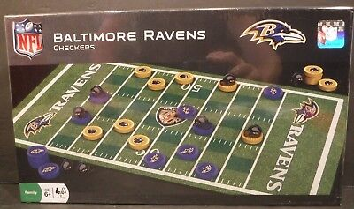 New Baltimore Ravens Nfl Checkers Set Played On Raven S Football