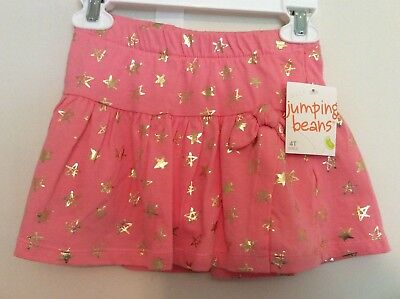 Nwt ~ Toddler Girl's Pink Stars Tulip Yoke Skooter Skirt Size 4T~W/tag