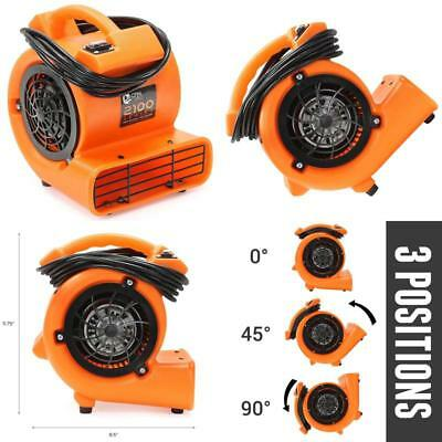 1/12 HP Blower Fan Mini Air Mover Carpet Floor Dryer with 3 Air Flow Positions
