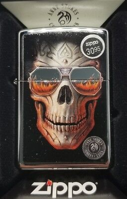 Zippo 29108 Anne Stokes Skull Sunglasses NEW Windproof Lighter Free Shipping