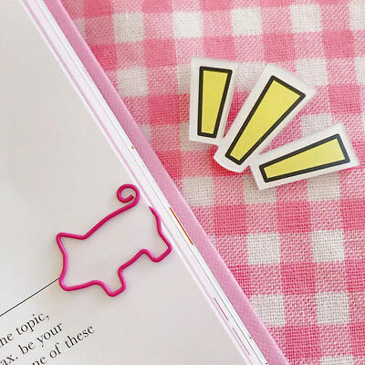 20*28mm Fancy Cartoon Bookmark Paperclip Volume Tail Cute Pig Paper Clip