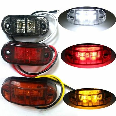 1PC White/Red 2-LED Side Marker Light Clearance Lamp Car Truck Trailer Caravan