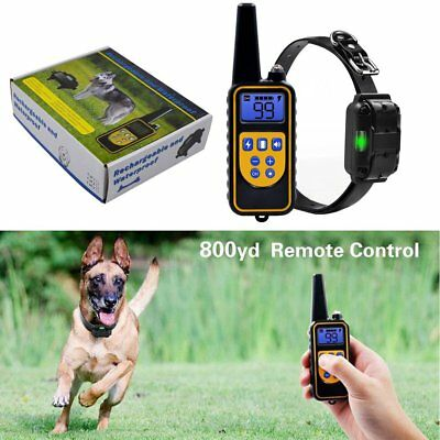 Waterproof Pet Dog Training Collar Rechargeable Electric Shock LCD (One Collars)