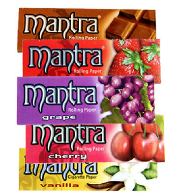 Mantra Mix Natural Gum Flavoured Rolling Papers Cigarette Tobacco Paper