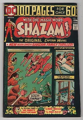 Shazam #14 VF 8.0 high grade 1974 DC Captain Marvel 100-page giant create-a-lot