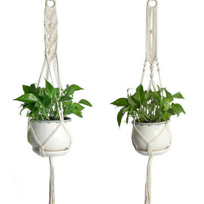 Pot Holder Macrame Plant Hanger Hanging Planter Basket Jute Rope Braided 41.33""