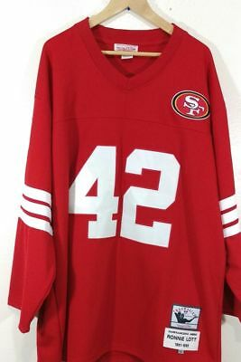 a9be6c650 Mitchell   Ness San Francisco 49Er s Ronnie Lott 42 Jersey Throwback ...