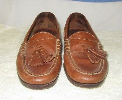 d4a452e028a MEN S COLE HAAN Country Tassel Loafers Shoes Brown Leather US 8 D ...