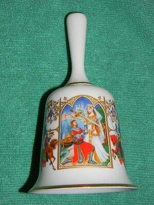 The Romance of Camelot- Franklin Porcelain- bell-Bone China-gold trim- Beautiful