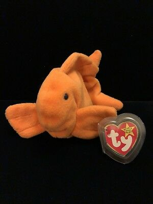 7355b4bdff9 TY BEANIE BABY - GOLDIE the Goldfish (4th Gen hang tag) (7.5 inch ...
