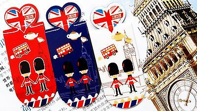 3X I Love London Magnetic Bookmark Clip Stationery Collection Kids Birthday Gift