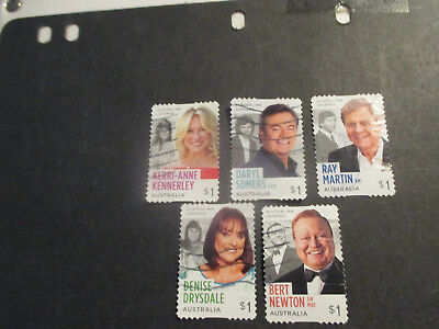 No--1  --2018   Australian  Tv  Legends  --5  Stamps  --P/s  A1