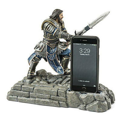 World Of Warcraft Lothar Statue/Figural Phone/iPhone/Samsung Dock/Stand/Holder