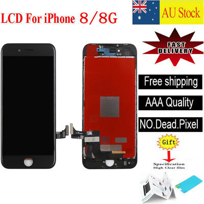 For iPhone 8 4.7'' LCD Display Touch Screen Digitizer Replacement Assembly Black