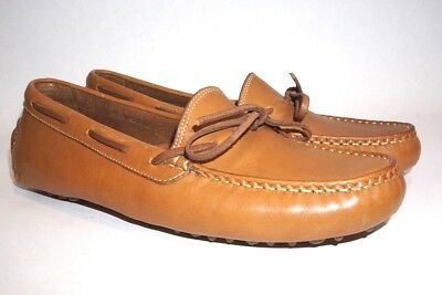 d9eaf060812 COLE HAAN Mens 8.5 Brown Leather Driving Moccasins Casual Tie Loafers Shoes