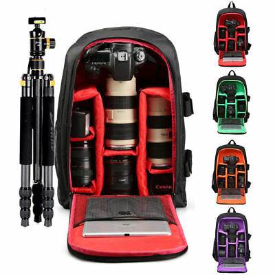 Large Storage DSLR Bag Waterproof Nylon Camera Backpack Notebook Bag for Canon