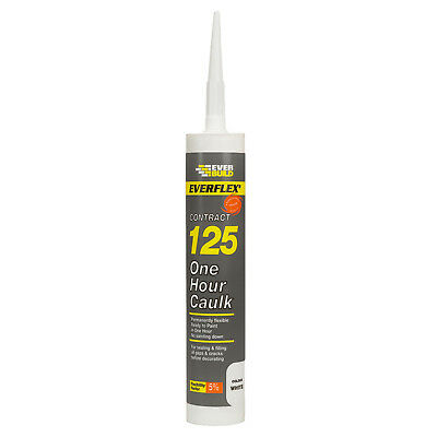 Everbuild 300ml 125 One Hour Decorators Caulk Filler Filling Adhesive Material