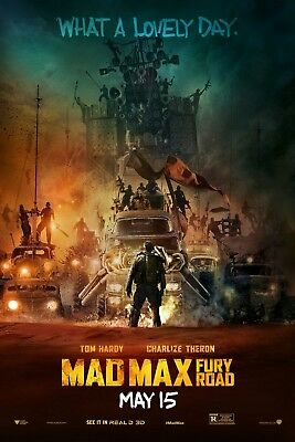 """""""Mad Max.. Fury Road"""" ..Tom Hardy  Classic Action Movie Poster Various Sizes"""