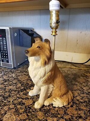 Sable Sitting Collie Lamp made by True Friends