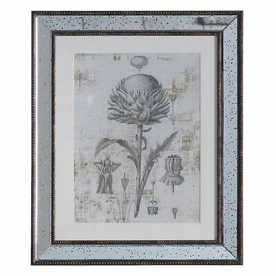 NEW Castle Road Interiors Metallic Botanic II Framed Wall Art