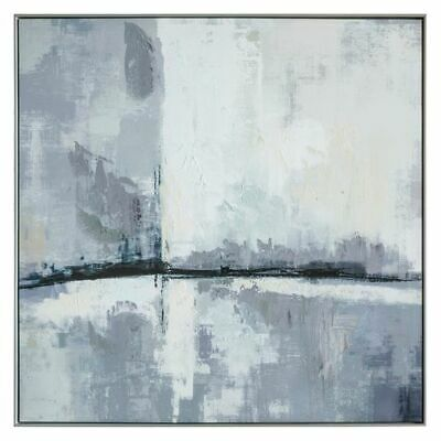 NEW Castle Road Interiors Grey Odyssey Framed Canvas Print
