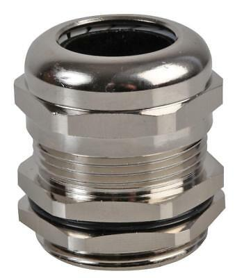 PG-MA PG21 Brass Nickel Plated Cable Gland 14-18mm Dia, 10 Pack - PRO POWER