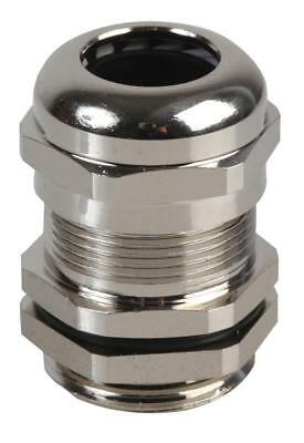 PG-MA PG13.5 Brass Nickel Plated Cable Gland 8-12mm Dia, 10 Pack - PRO POWER