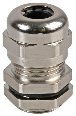 PG-MA PG7 Brass Nickel Plated Cable Gland 4-7mm Dia, 10 Pack - PRO POWER