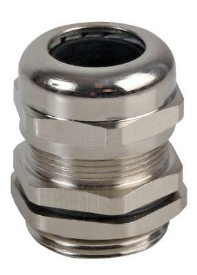 M-MA M32 Brass Nickel Plated Cable Gland 16-22mm Dia, 10 Pack - PRO POWER