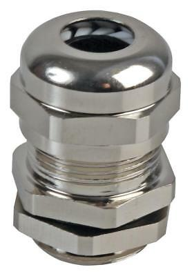 PG-MA PG9 Brass Nickel Plated Cable Gland 5-8mm Dia, 10 Pack - PRO POWER