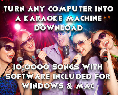 Karaoke Machine On Any Computer Win & Mac Download Plus 10,000+ Songs Cd+G/cdg