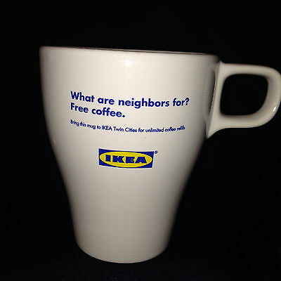 Ikea Twin Cities Minneapolis/st Paul Minnesota Free Unlimited Coffee Refills Mug