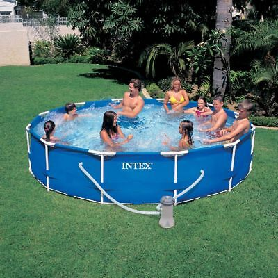 intex metal frame pool 305 x 76 cm rund stahlrohrbecken rund eur 59 95 picclick at. Black Bedroom Furniture Sets. Home Design Ideas