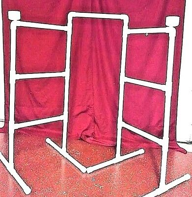 """NEW 3/4"""" PVC Parrot DOUBLE  FLOOR PERCH  STAND"""