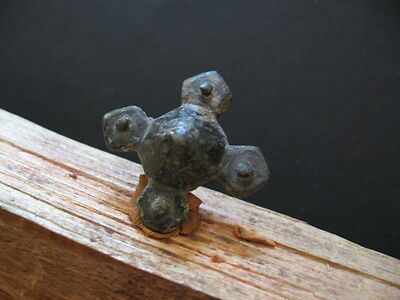 Cross Form Votive Amulet Ancient Celtic Bronze Warriors Talisman 500-200 B.c.