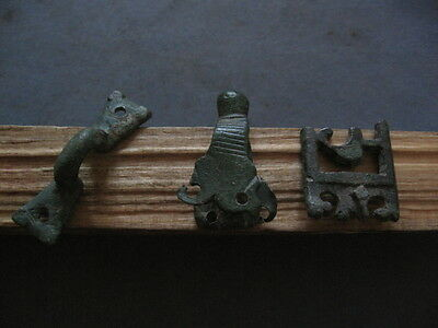 3 Pieces Of Ancient Celtic Bronze Sword Cover 500-300 B.c