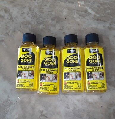 4-Magic Goo Gone Citrus Solvent 2 oz Bottles Removes Gum Grease and Tar original