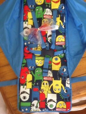 Mothercare Nanu Stroller Monsters Replacement Seat Fabrics Inc Harness