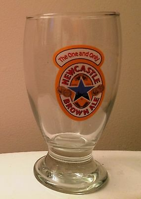 NEWCASTLE BROWN ALE Geordie Schooner Beer Glass The One & Only FREE US SHIPPING