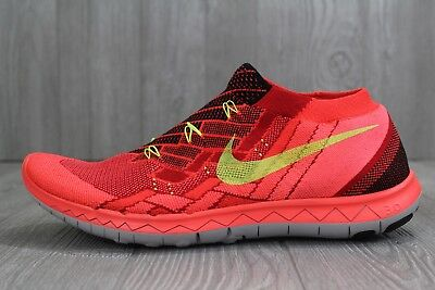 Nike Free 3.0 Flyknit Running Shoes University Red 718418