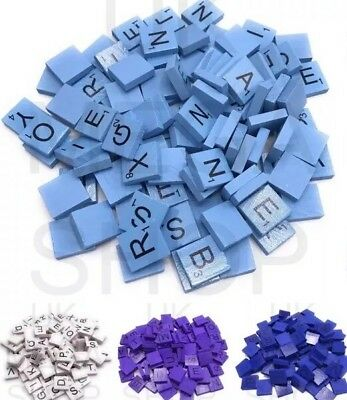 100 Coloured Wooden Scrabble Tiles - wood alphabets scrapbooking and Arts &Craft