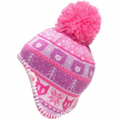 4ee040a70fa The North Face Baby Infant Toddler Faroe Beanie Winter Hat Pink Girls XS 6- 24