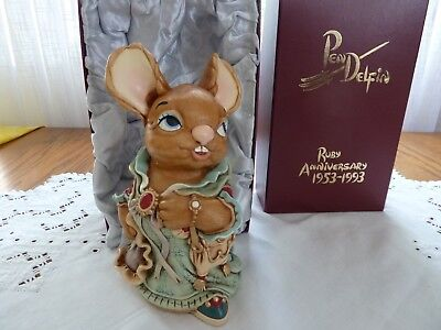 """LARGE PENDELFIN AUNT RUBY ANNIVERSARY 1953-1993 England 8""""T"""