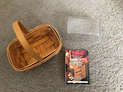 Longaberger Parsley Booking Basket & Protector