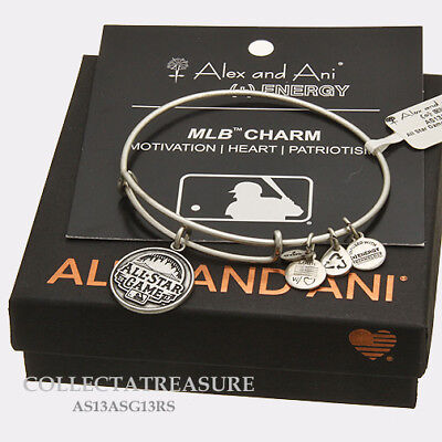 Authentic Alex and Ani All Star Game 2013 Rafaelian Silver Charm Bangle