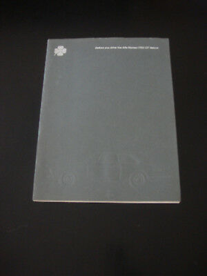 """Alfa Romeo 1970's """"Before you Drive The 1750 GT Veloce"""" Sales Brochure"""