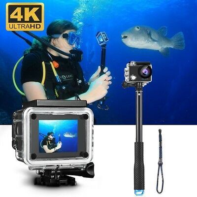 4K Ultra HD DV 16MP 1080p 60fps Sports Action Camera + Full Accessory Bundle