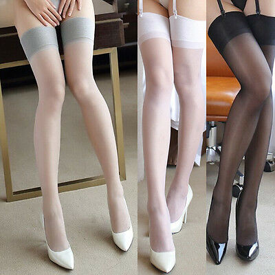 USA Women Stocking Lace Silicone Band Stay Up Thigh High Stockings Pantyhose